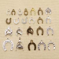 60 шт Металлические Подвески для изготовления ювелирных изделий животных Good Luck подковы подковы HJ051