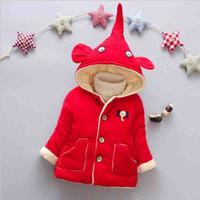 9b20ac4cd53 Buena calidad 0-24 meses bebé niños invierno cálido abrigo elefante patrón  de manga larga de algodón chaqueta abrigos recién nacido bebé regalos de  Navidad