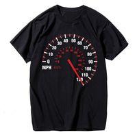 العلامة التجارية تصميم Hanhent عداد السرعة أزياء تي شيرت الرجال القطن الصيف سرعة السيارة تي شيرت أسود الإبداعية بلايز تيز اللياقة البدنية ملابس هوتا بيع