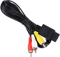 AV TV Câble RCA Cable 1.8m 6ft AV TV Câble de cordon vidéo RCA pour SNES Game Cube pour N64 64 Câble de jeu