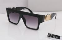 여름 스타일의 선글라스 4362 개 여성 남성 브랜드 디자이너 자외선 차단 태양은 투명 렌즈와 코팅 렌즈 sunwear 안경