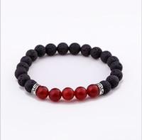 1pc 2019 7 Chakra Bracelet Men Black Lava Healing Balance  Reiki Buddha Prayer Natural Stone Yoga Bracelet For Women 7674