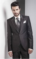 Custom Made Groom Tuxedo Black Groomsmen Wedding Dinner Suit...
