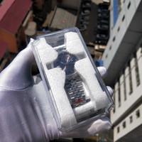 Новый супер BP завод фотография V2 Новый ремень ЮБИЛЕЙНЫЙ БРАСЛЕТ Дайвинг Мужчины Часы сапфировое стекло 41мм Мужские часы с оригинальным Пластиковые окна