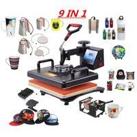 متعددة الوظائف 9 في 1 كومبو الحرارة الصحافة آلة التسامي الحرارة الصحافة نقل الحرارة الطابعة للحصول على القدح / كاب / T قميص حالات / الهاتف