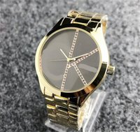 HOT Men's and Women's Fashion Color Surface Pattern Watch Gold Mesh Dress Couple Watch Reloj Mujer