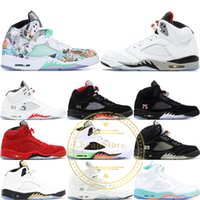 Top 5 Basketballschuhe 5S V Männer Roter Wildleder Oregon Ducks Olympic Trauben Raptors Zement Klassiker Designer Marke Tennis Sport Turnschuhe