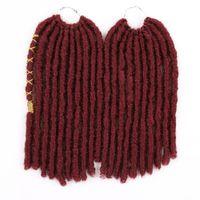 12-дюймовый прямой Поддельный Locs Синтетический крючком Плетение Extensions волос Высокая температура волокна волос Косы Dreadlocks