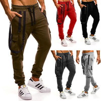 Cargo pocket harem pants baggy hippie sports trousers men&#0...