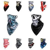 new America Magic scarf sunscreen ice silk riding mask breathable printed triangle scarf for men and women Party masks T2I51128
