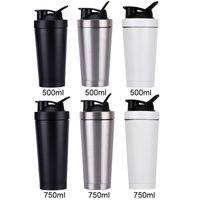 550ml нержавеющей стали металл Протеин шейкер чашка Blender Mixer бутылка вода Спорт бутылка с герметичной крышкой Бесплатной доставкой