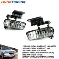 Lumière antibrouillard pour Chevrolet Chevy 99-02 Silverado, 00-06 Suburban / Tahoe Clear Lentille Bumper Feux de brouillard Lampes de conduite TT101000-CL