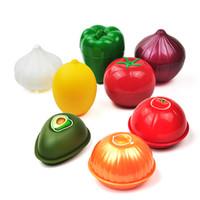 Słodkie Kuchnia Owoce Warzywa Klasyfikowane Kontenery żywnościowe Cebula Pomidory cytrynowe Zielony Pieprz W Kształtowany Plastikowy Fresh Storage Box Case