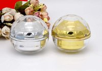30G leerer Luxusdiamantbereich Acrylcremebehälter-Goldaugencremeprobe Kosmetikglas, Kosmetikverpackungstopf SN2275
