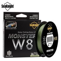 SeaKnight MONSTER W8 150M 300M 500M Ligne de pêche tressée 8 brins MultiColor Multifilament Ligne de production d'eau de mer PE 20 30 40 80 100LB