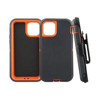 Defender casos Simetría de acero de armadura completa de la cubierta a prueba de agua caja del teléfono a prueba de golpes con el logotipo para el iPhone 11 X