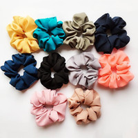 Capelli elastici signora Hair Scrunchy Anello Pure Color Bobble Danza sportiva Scrunchie morbida Scrunchie Hairband