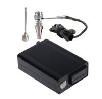 E Nagel Kit Günstige tragbare Email Electric DAB Nagelstift Rig Wax PID TC Box mit Ti Titan 20mm Spulenheizung