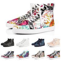 Tasarımcı moda lüks Kırmızı Dipleri ayakkabı Çivili Spike Flats Perçin Erkekler Kadınlar Için Parti Severler rahat Sneaker sneakers
