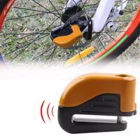 Cykellås Cykel Mini Electron Alarm Skivbromsar Lås Mountain Road Racing Anti Stöld Säkerhet Tillbehör