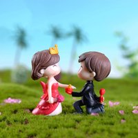 Propose Marriage Lover Figurines Doll Miniatures Couple Brid...