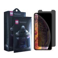 Anti-espion Protecteur d'écran de confidentialité pour l'iPhone 11 XS Max XR XS Samsung A10E A20 A30 Privacy Protector Film en verre trempé avec la boîte au détail