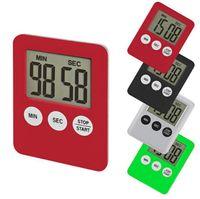 Basit Yaşam Pratik Kullanım Dijital Kare LCD Ekran Ev Mutfak Zamanlayıcı Elektronik Mutfak Pişirme Zamanlayıcı Kronometre Pişirme Araçları SN2833
