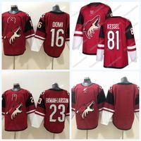 81 Phil Kessel Arizona Coyotes Ice Hockey Jersey 16 Max Domi 23 Oliver Ekman-Larsson Doppio nome cucito e numero
