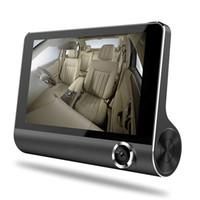 """3 طرق السيارات الكاميرا registrator سيارة DVR مسجل 4 """"شاشة 1080P FHD الفيديو أمام 170 درجة 140 درجة العمق الداخلية رؤية 120 درجة ليلا G- الاستشعار"""