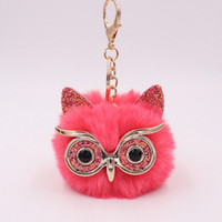 18 Color Styles Plush Owl Shape Keychain Cute Fashion Artici...