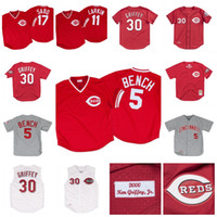 Johnny Bench 1969 1983 Barry Larkin 1990 Chris Sabo 1990 Ken Griffey Jr. 2000 Ken Griffey Jr. 2005 Vintage Baseball Jersey