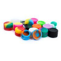 Nicht-Stick-kleine runde bunte Wachs-Container Dabber 3ml-Lebensmittelqualität trockener Herb-Verdampfer-Speicher-Gummi-FDA-Gewohnheit für VAPE