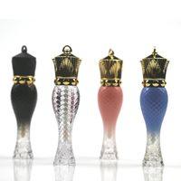 5ML الصولجانات الفارغة الشكل البلاستيك الشفاه لمعان أنبوب، الجمال واضح الملكة شفاه الحاويات، زجاجة الشفاه العصابات الجزر