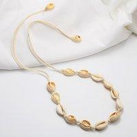 Collana con guscio naturale con conchiglie per donna conchiglie con conchiglie in rilievo estivo spiaggia corda conchica gioielli regolabile