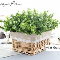 silk fake green plant fake milan artificial grass with leaf ...