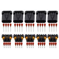 5 Наборы 4 контактный датчик кислорода разъем автомобиля Электрический провод Автомобильный Разъем DJ7043Y-1.5-11 / 21
