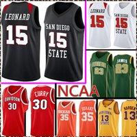 San Diego State Aztecs College Kawhi 15 Leonard Jersey NCAA 30 Curry 35 Durant 23 James Lebron Basketball Jerseys 99 88 220