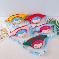 Children Waist Packs Kid Coin Purse Cartoon mermaid Chest Ba...