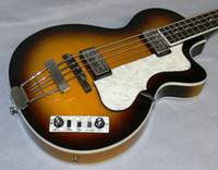 Hofner Çağdaş HCT 500/2 Keman Kulübü Bas Bal Sunburst Elektrik Bas Gitar 30 inç kısa ölçekli, 125 Yıldönümü 1950'ler Yeni Geliş