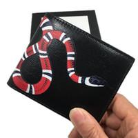 أسود جلد طبيعي الرجال قصيرة محفظة محفظة جلد البقر جلد حامل بطاقة الائتمان محفظة الأزياء الأفعى id بطاقة محافظ للرجل 451268