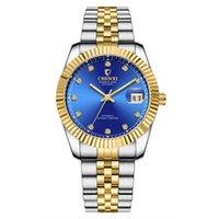 Erkekler Kadınlar Severlerin Saatler Gece Işığı Pointer 001 Su geçirmez Paslanmaz Çelik Kayış için CHENXI Marka Otomatik Mekanik Saatler