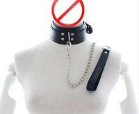 Cuir Sex BDSM Bondage Collier, Fétiche cou Bondage, Sex Slave Collar Leash, Sex Toys Couple