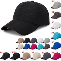 야구 모자 여름 야외 스포츠 선 스크린 야구 모자는 챙 모자 통기성 빠른 건조 캡을 실행 메쉬 LJJO7665