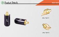 120pcs / 60pairs appassionati Jack L / R MMCX nero / argento auricolare poli per Shure SE535 ED5 connettore placcato oro