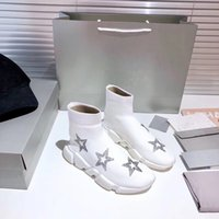 새로운 스타일의 3D 다이아몬드 뜨개질 양말 부츠 클래식 남성 여성 발목 부츠 럭셔리 디자이너 여성 남성 발목 부츠