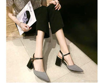 2019 Spring new fashion plaid head sandals, a word buckle th...