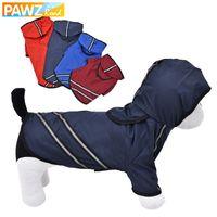 Pawzroad الكلب معطف واق من المطر الكلب الملابس الحيوانات الأليفة والملابس ملابس تنفس ملابس الحيوانات الأليفة عاكس جرو معطف سترة مضادة للماء الكلب التي شيرت