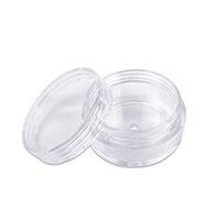 10 grammes cosmétiques Pots Jar vide avec couvercles en plastique transparent Bouteilles poudre Conteneur pour fard à paupières Maquillage Crème Baume à lèvres Portable
