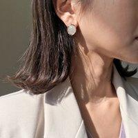 2019 Мода Корейский Мраморный Узор Boho Круглые Серьги Для Женщин Геометрия Ретро Простой Круг Элегантный Имитация Янтарного Уха Ювелирные Изделия Brincos E36