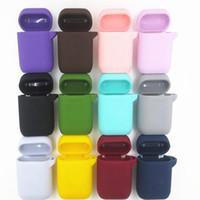 Caja protectora Auriculares inalámbricos Bluetooth Cubierta protectora pura Simplicidad Gel de sílice Auricular Funda Venta directa de fábrica 2 6sh p1